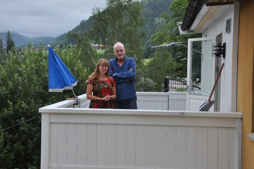 Christian frå Danmark lika seg spesielt godt på den eine terrassen, med den flotte utsikten!